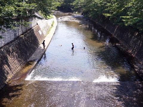 2009081615.jpg 恩田川の夏 水遊び