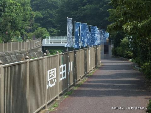 2013071412恩田川遊歩道フラッグアート
