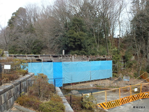 2013010657忠生公園内のふれあい橋が解体工事中