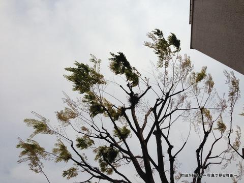2013041409JR成瀬駅北口、頭上注意!