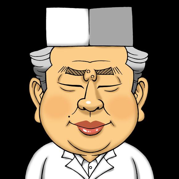 料理人の似顔絵
