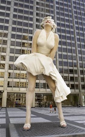 シカゴのマリリン像