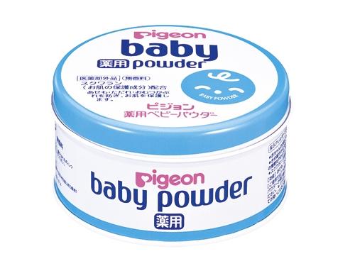 ピジョン ベビーパウダー ブルー缶(薬用)