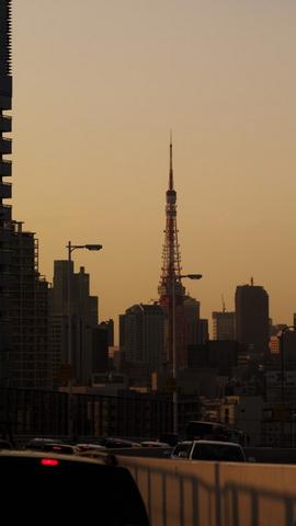 夕方の東京