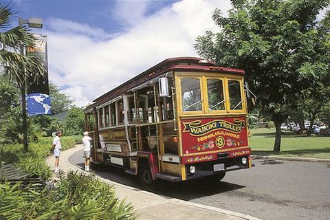 ハワイ観光バス(フリー画像)