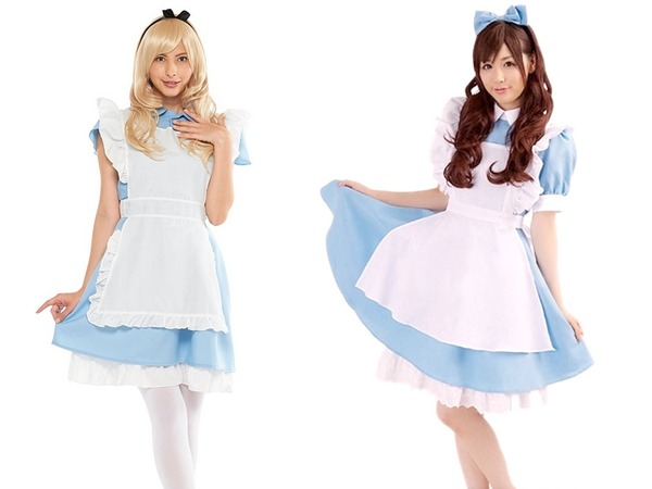 正規アリスコスとアリス風メイド服