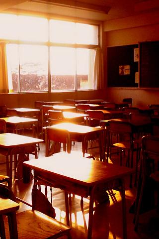 夕焼けの教室