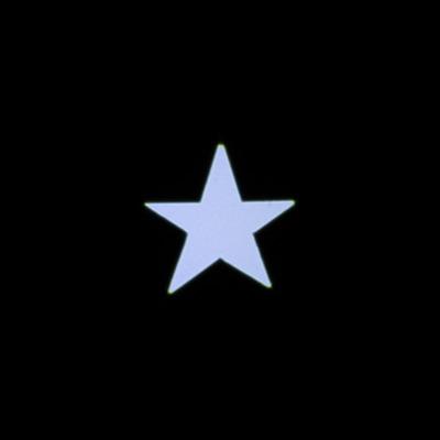 光源5m フォーカス5m フィルター:星型マスク