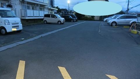 引越した団地の駐車場の写真
