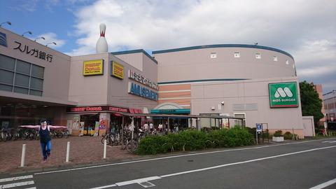清水町ショッピングモールで右足立ちでバランス感覚を検査した僕の姿