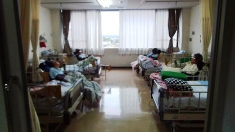 母の入院する病室