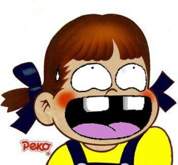 ペコちゃんの歓喜笑顔