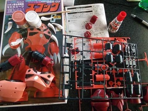 紅のシャア専用ズゴックのガンプラ制作