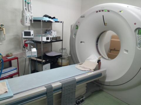 ##DSCF03990-3西島脳外科病院で肺の再検査をしたCT室の写真