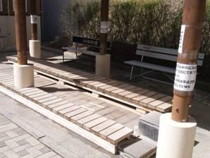 道の駅こぶちさわの足湯は工事中らしく使用不可で残念写真画像
