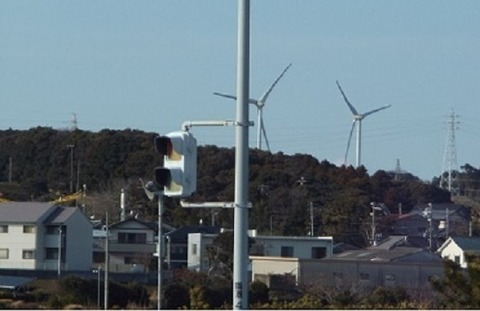 4静岡県御前崎の風力発電の写真(4)