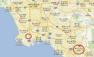 アメリカ LA ロス地図