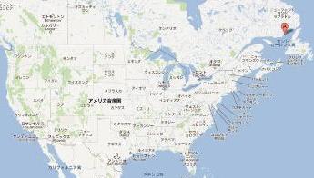 カナダ地図 大いなる休暇 ロケ地