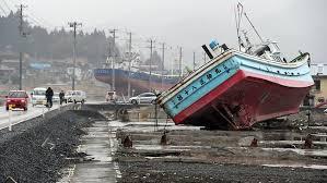 震災で津波に襲われ