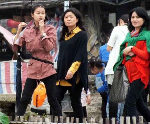 中国人の観光客団体