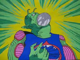 突然、緑色の液体