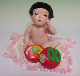 赤ん坊を銭湯