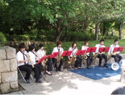 甘泉殿でのサクソフォン演奏