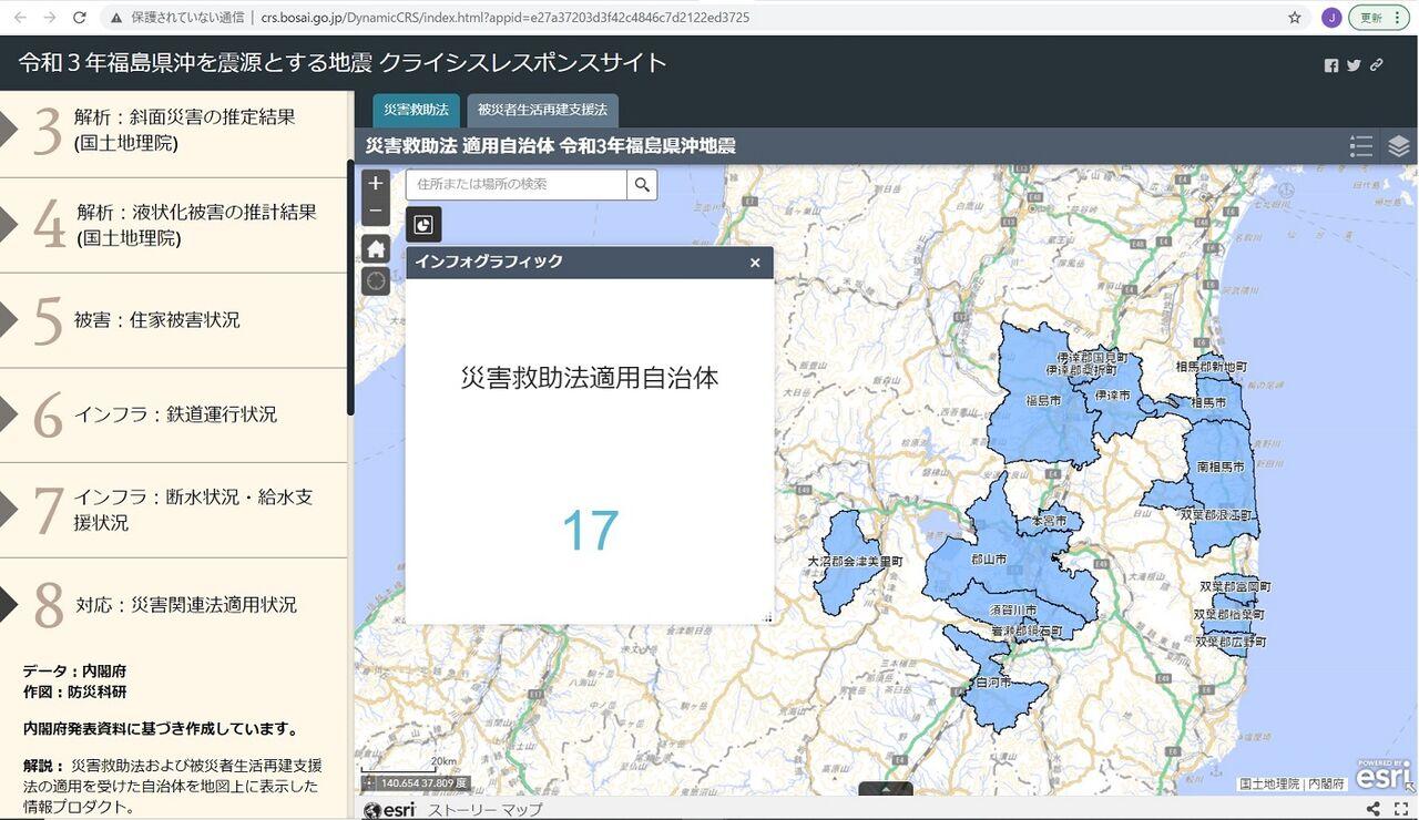 クライシスレスポンスサイト_20210213福島県沖地震_災害救助法