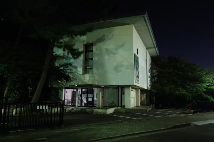 旧會津八一記念館夜景SDSC04540