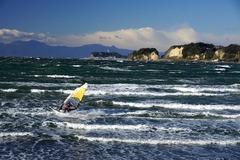 141217材木座海岸ウインドサーフィン2
