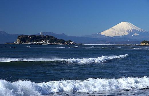 161228稲村ガ崎富士山
