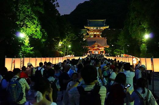 170809鶴岡八幡宮ぼんぼり祭り