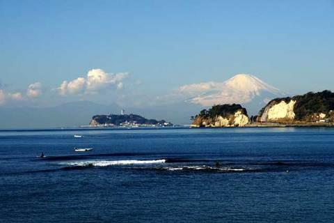 100109材木座富士山