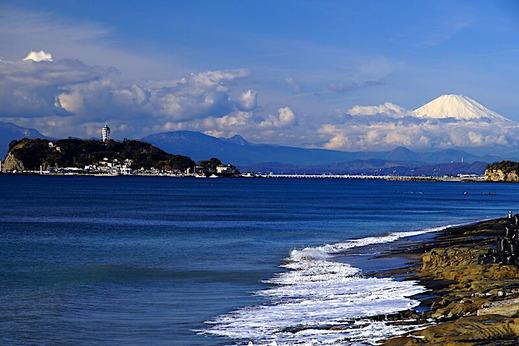 191224七里ヶ浜富士山