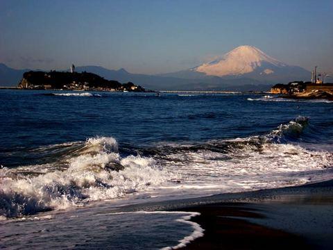100106稲村ケ崎富士山1