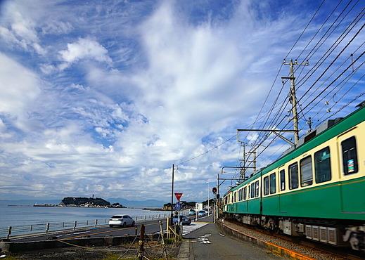 201026七里ガ浜と江ノ電