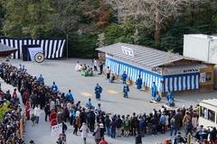 140105鶴岡八幡宮、除魔神事2
