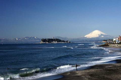 110213七里ガ浜富士山