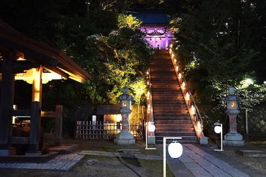170823甘縄神明神社長谷の灯かり
