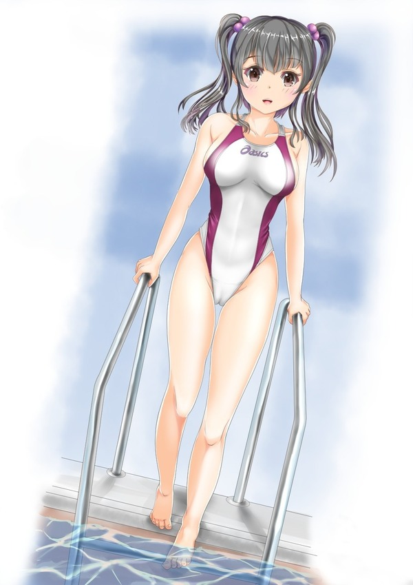 二次ハミ乳競泳水着画像 (6)
