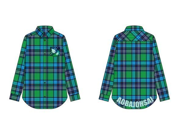 青葉城西高校イメージチェックシャツ