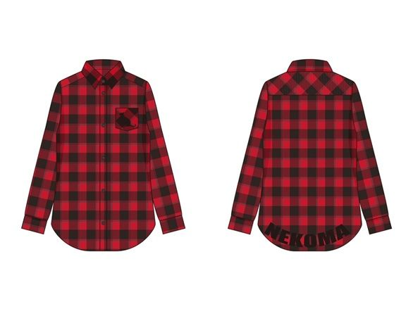 音駒高校イメージチェックシャツ