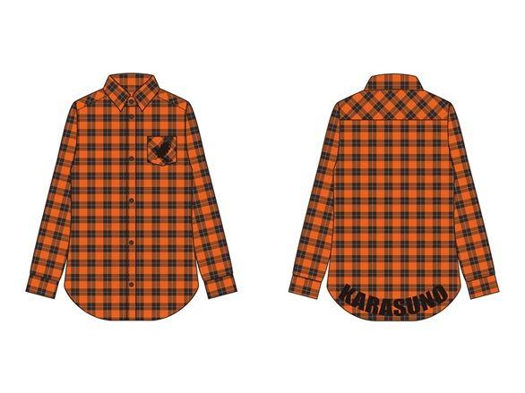 烏野高校 イメージチェックシャツ