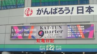 2015年KAT-TUN9uarter看板