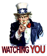 watching you uncle sam poster Big Brother 1984 Orwellian