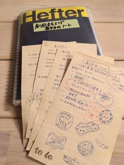 立ち上げ時のノート