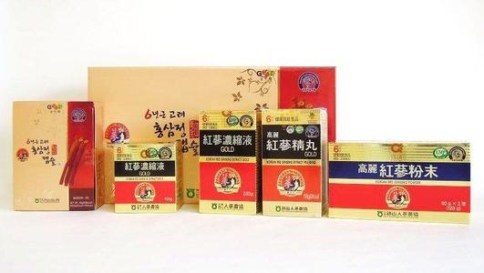 6品紅参セット、濃縮液240g、120g、カプセル300粒、100粒、丸剤、粉末