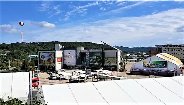 2018年 高麗人参祭り会場の準備