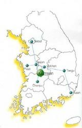 韓国 錦山 地図