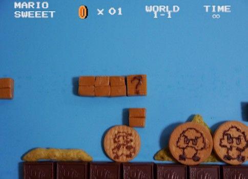 お菓子でマリオの1